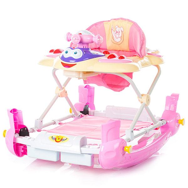 Premergator cu balansoar Chipolino Teddy pink [0]