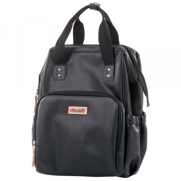 Rucsac si gentuta de infasat Chipolino black leather 1
