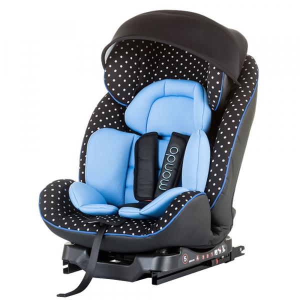 Scaun auto Chipolino Mondo 0-25 kg sky blue cu sistem Isofix 0