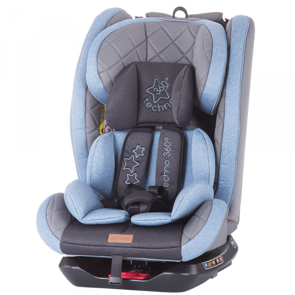 Scaun auto Chipolino Techno 0-36 kg blue cu sistem Isofix 0