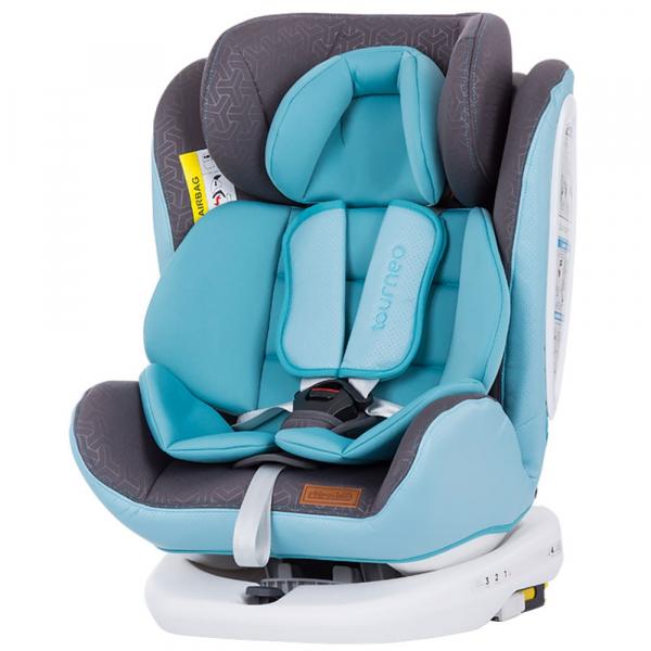 Scaun auto Chipolino Tourneo 0-36 kg baby blue cu sistem Isofix 0