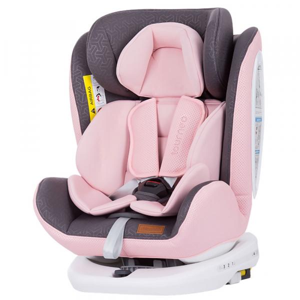 Scaun auto Chipolino Tourneo 0-36 kg baby pink cu sistem Isofix 0