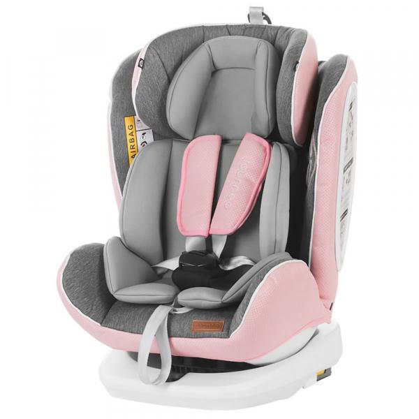 Scaun auto Chipolino Tourneo 0-36 kg rose pink cu sistem Isofix [4]