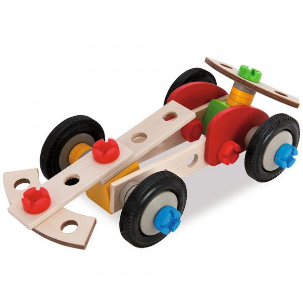 Set constructie din lemn Eichhorn Constructor Racer 50 piese 2