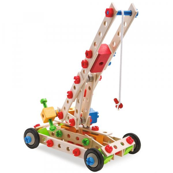 Set constructie din lemn Eichhorn Crane 170 piese 3