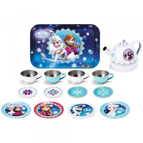 Set de servit ceaiul din metal Smoby Frozen cu 14 accesorii 0