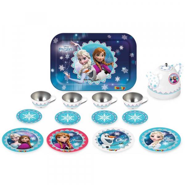 Set de servit ceaiul din metal Smoby Frozen cu 14 accesorii 1