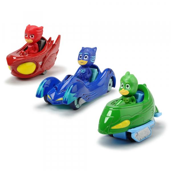Set Dickie Toys 3 Masinute Eroi in Pijama cu 3 figurine 0