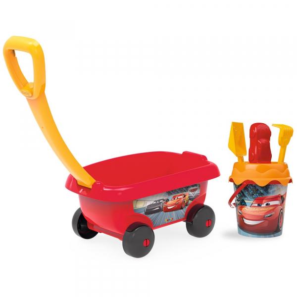Set jucarii nisip Smoby Carucior Cars cu accesorii 0