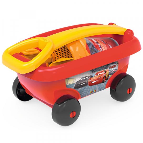 Set jucarii nisip Smoby Carucior Cars cu accesorii 1