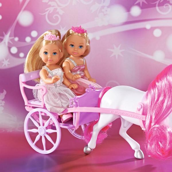 Set Simba Evi Love Romantic Carriage cu 2 papusi 12 cm si caleasca [2]