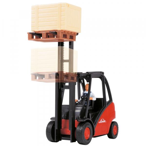Stivuitor Dickie Toys Cargo Lifter cu accesorii 3