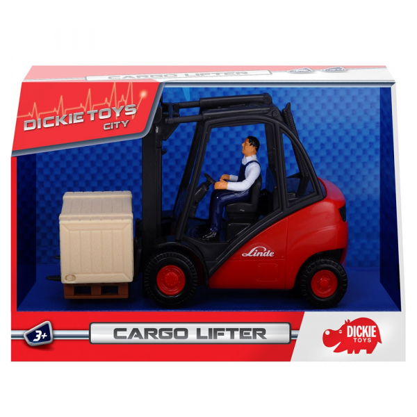 Stivuitor Dickie Toys Cargo Lifter cu accesorii 8