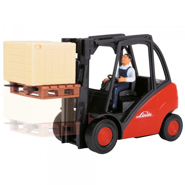Stivuitor Dickie Toys Cargo Lifter cu accesorii 2