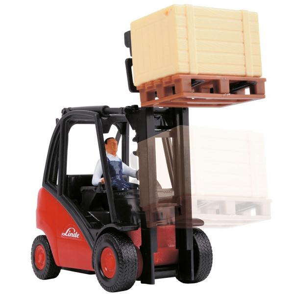 Stivuitor Dickie Toys Cargo Lifter cu accesorii 4