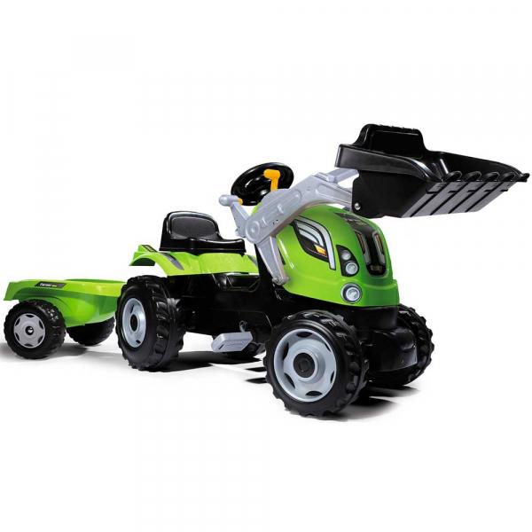 Tractor cu pedale si remorca Smoby Farmer Max verde 0