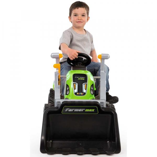 Tractor cu pedale si remorca Smoby Farmer Max verde 3