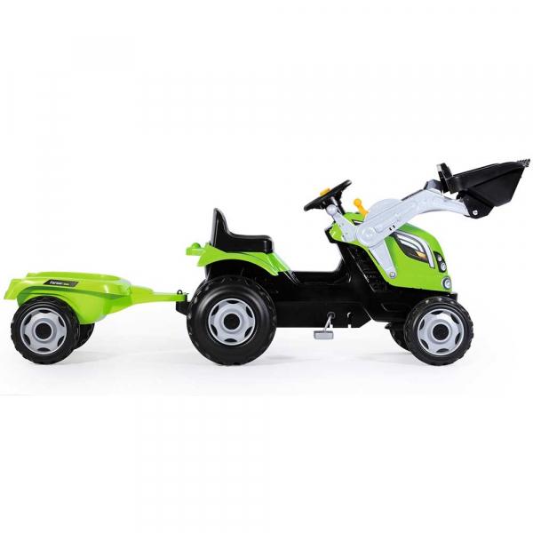Tractor cu pedale si remorca Smoby Farmer Max verde 1