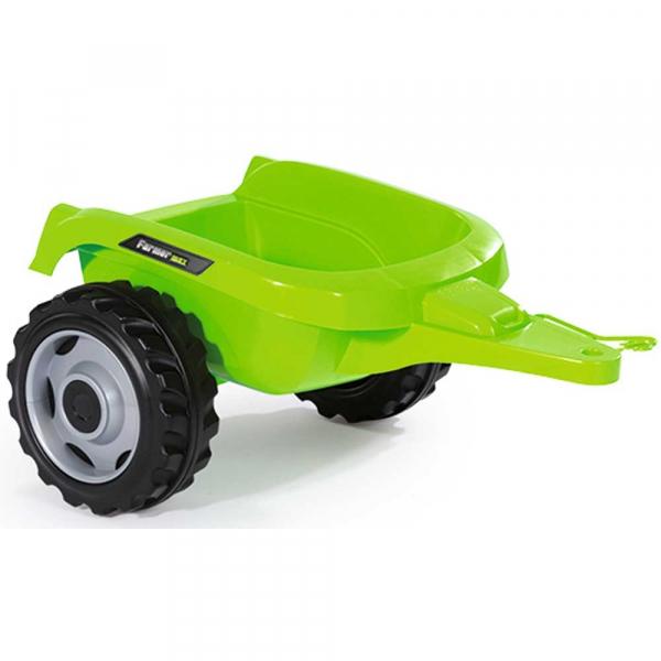 Tractor cu pedale si remorca Smoby Farmer Max verde 2