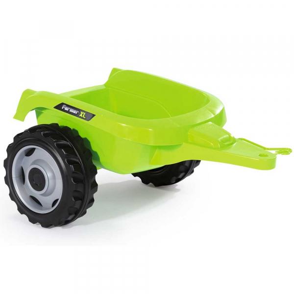 Tractor cu pedale si remorca Smoby Farmer XL alb negru 3
