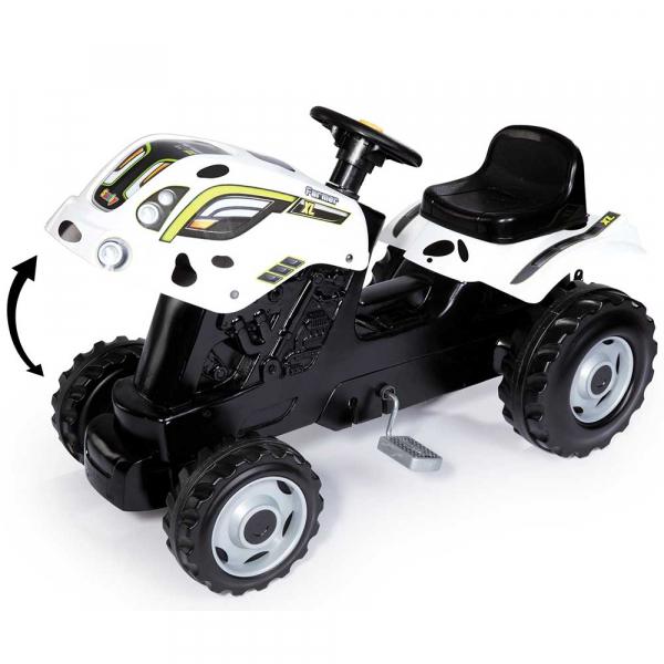 Tractor cu pedale si remorca Smoby Farmer XL alb negru [5]