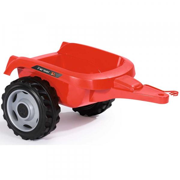 Tractor cu pedale si remorca Smoby Farmer XL rosu [1]