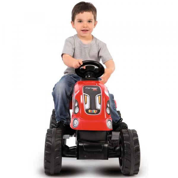 Tractor cu pedale si remorca Smoby Farmer XL rosu [5]