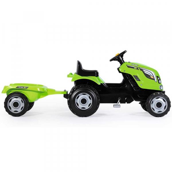 Tractor cu pedale si remorca Smoby Farmer XL verde [1]