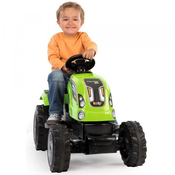 Tractor cu pedale si remorca Smoby Farmer XL verde [4]