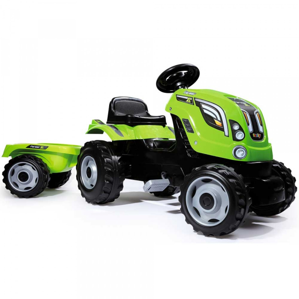 Tractor cu pedale si remorca Smoby Farmer XL verde [0]