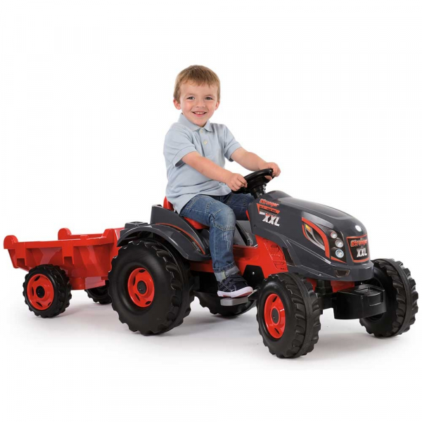 Tractor cu pedale si remorca Smoby Stronger XXL 4