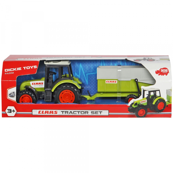 Tractor Dickie Toys Class Celtis 446 RX cu remorca 2