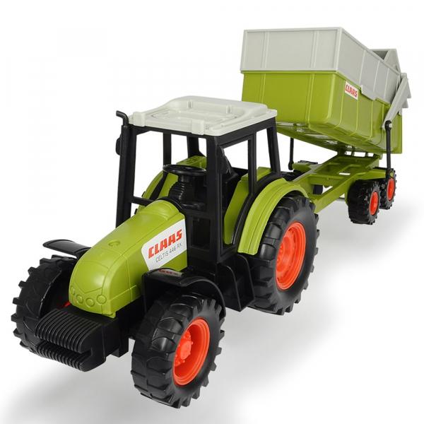 Tractor Dickie Toys Class Celtis 446 RX cu remorca 0