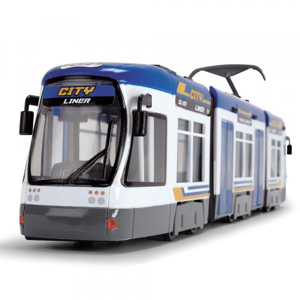 Tramvai Dickie Toys City Liner albastru [0]