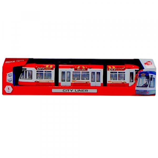 Tramvai Dickie Toys City Liner rosu [3]