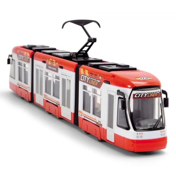 Tramvai Dickie Toys City Liner rosu 1