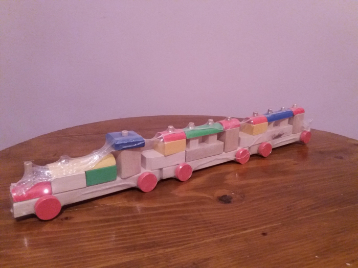 Tren din lemn demontabil lung 0