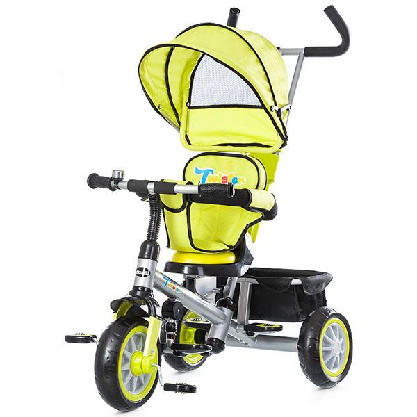 Tricicleta cu copertina si sezut reversibil Chipolino Twister lime 2015 [2]