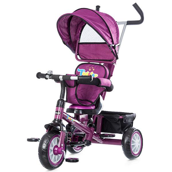 Tricicleta cu copertina si sezut reversibil Chipolino Twister purple 2015 [2]