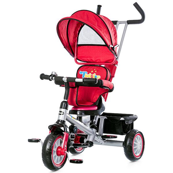 Tricicleta cu copertina si sezut reversibil Chipolino Twister red 2015 [4]