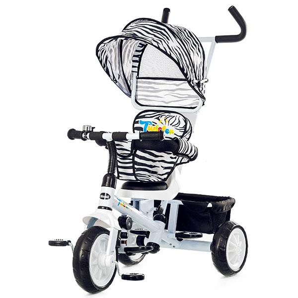 Tricicleta cu copertina si sezut reversibil Chipolino Twister white 2015 [2]