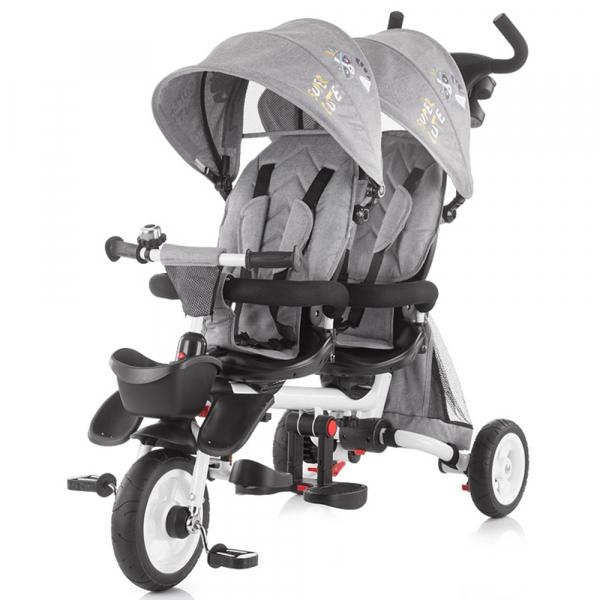 Tricicleta gemeni Chipolino 2Fun grey 0