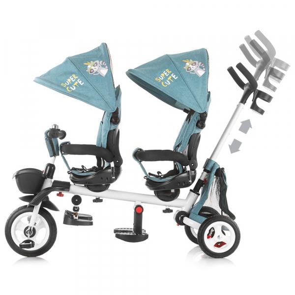 Tricicleta gemeni Chipolino 2Fun grey 1