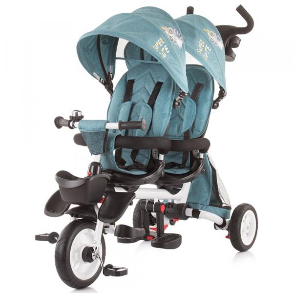 Tricicleta gemeni Chipolino 2Fun ocean 0
