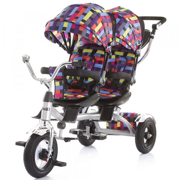 Tricicleta gemeni Chipolino Tandem multicolor 0