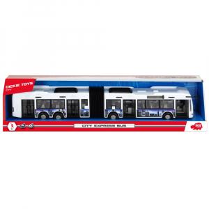 Autobuz Dickie Toys City Express Bus alb3
