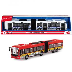 Autobuz Dickie Toys City Express Bus rosu2