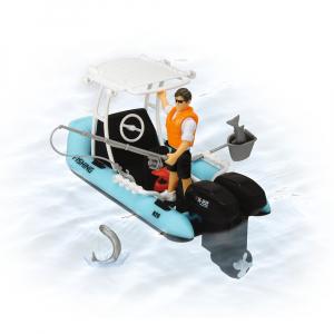Barca de pescuit Dickie Toys Playlife cu figurina si accesorii3