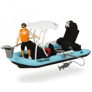 Barca de pescuit Dickie Toys Playlife cu figurina si accesorii2