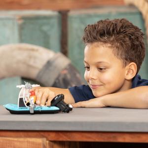 Barca de pescuit Dickie Toys Playlife cu figurina si accesorii4